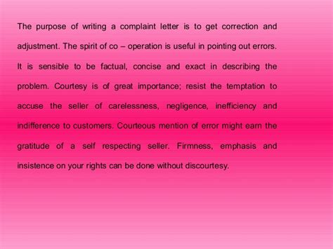 Complaint Letter Purpose What Is The Purpose Of The Complaint Letter Cover Letter Sle 2017
