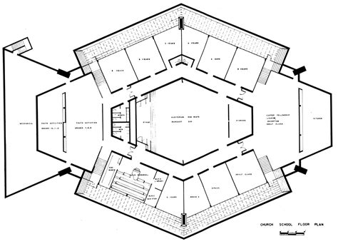 L Shaped House Plans by Ad Classics North Christian Church Eero Saarinen