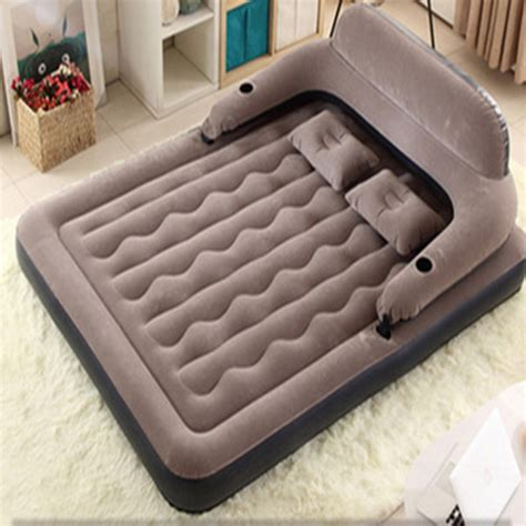 200x150x20cm air mattress bed pvc air mattresses airbed with flocking surface for