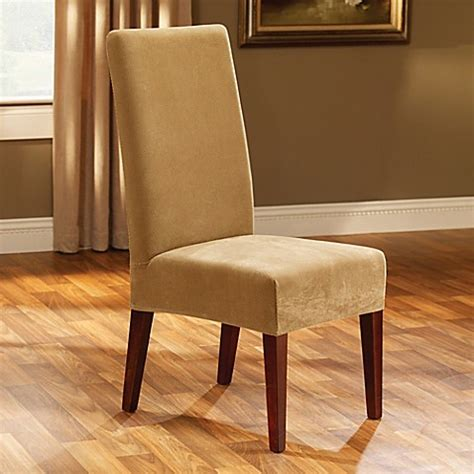 dining room chair slipcovers short sure fit 174 stretch pique short dining room chair slipcover