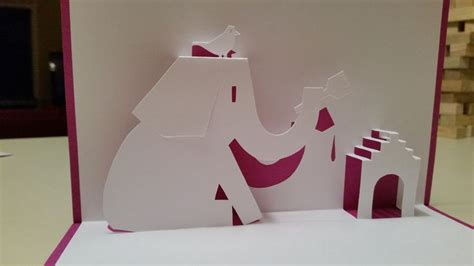 elephant pop up card template elephant painting house pop up card template from