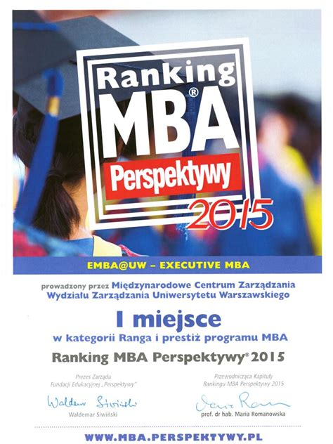 Poland For Mba by Emba Uw The Most Prestigious Mba Program In Poland