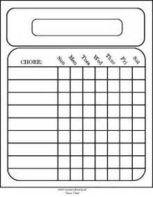 free chore chart template printable calendar weekly blank calendar template 2016