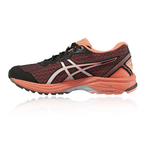 womens waterproof running shoes asics gt 1000 5 womens orange black support tex