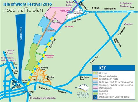 printable road map of isle of wight isle of wight festival traffic plan your downloadable guide