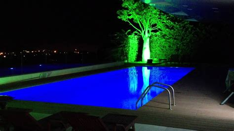 colored lighting pool with multi colored led lighting