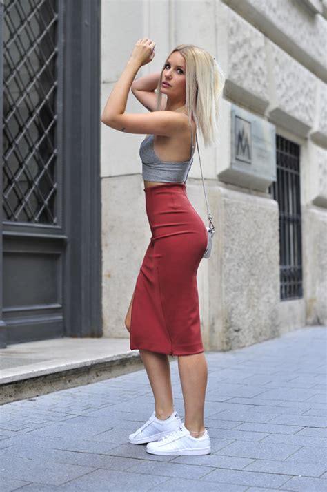 fotos de faldas largas 2016 falda midi tendencia primavera verano 15