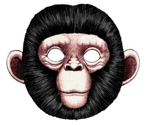printable gorilla mask free pin face mask template document sle printable on pinterest