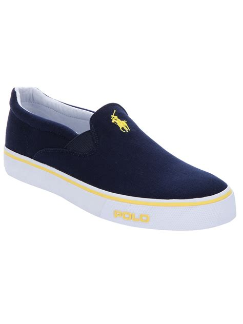 polo ralph slip on sneaker in blue for lyst