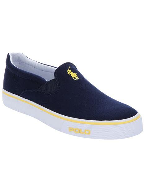 slip on sneaker for polo ralph slip on sneaker in blue for lyst