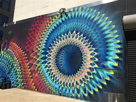rippled portals  color created  spray paint