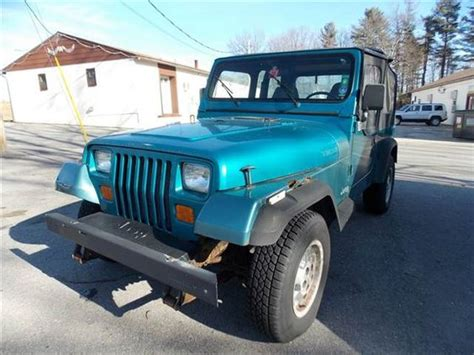 blue green jeep 1994 jeep wrangler teal green blue http iseecars