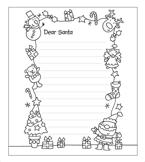 Best Photos Of Santa Printable Template Printable Dear Santa Letter Template Printable Letter Template Black And White