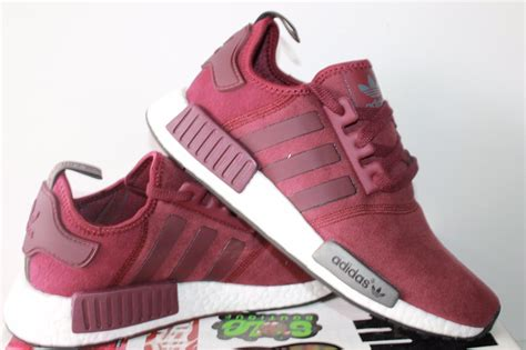 adidas womens nmd r1 nomad runner burgundy new shoes size 8 what s it worth