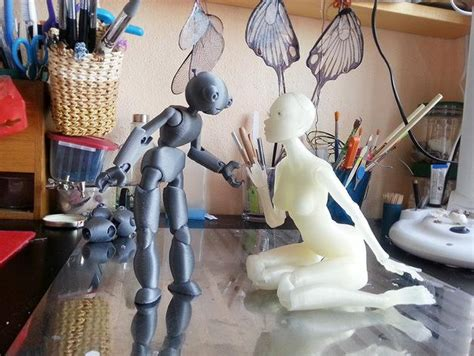 3d printed jointed doll model 3d printer helps designer to get jointed dolls