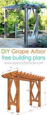 Diy Arbor Trellis diy grape arbor free building plan a piece of rainbow