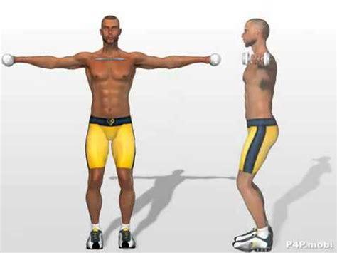 esercizi spalle casa alzate laterali con i pesi esercizi allenamento per