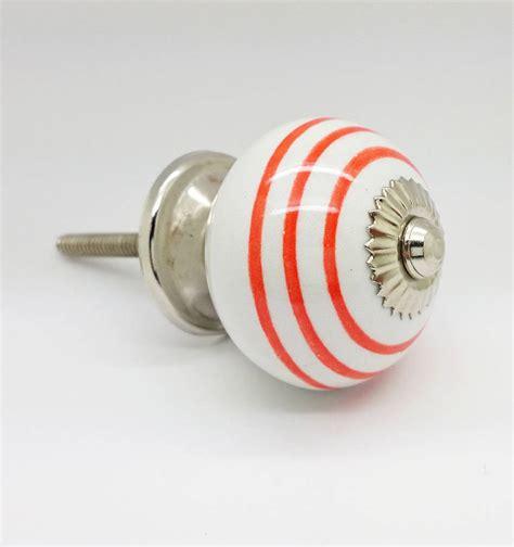 orange ceramic door knobs cupboard drawer pull handle by g