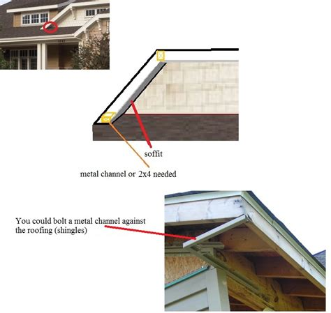 what s the best way to secure soffit that joins a roofline