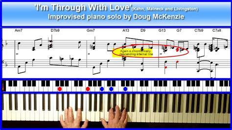 youtube tutorial jazz piano i m through with love jazz piano tutorial youtube