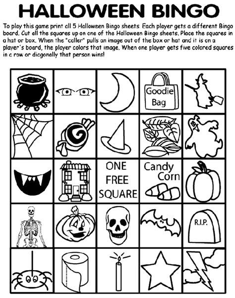 halloween coloring pages crayola halloween bingo no 5 crayola com au