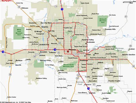 printable phoenix area map city of phoenix map world map 07