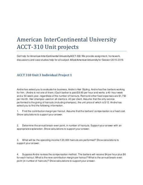 American Intercontinental Project Management Mba by American Inter Continental Acct