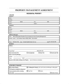 Management Agreement Template by Sle Property Management Agreement 7 Documents In Pdf