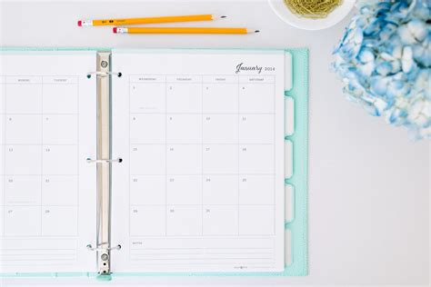 printable planner pages for 3 ring binder introducing elle company