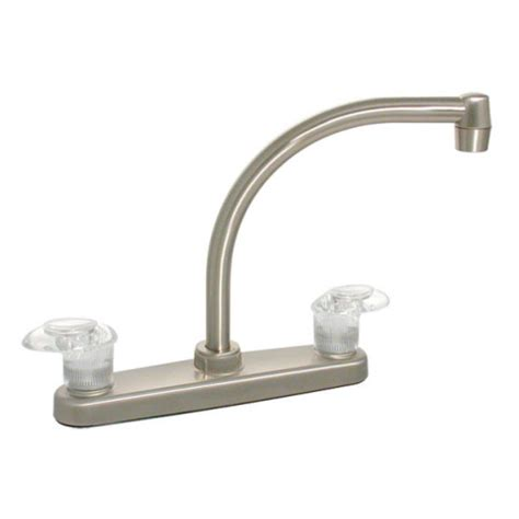 air in kitchen faucet 174 brushed nickel two handle kitchen faucet