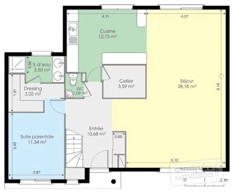 maison contemporaine 5 d 233 du plan de