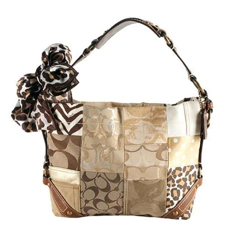 Coach Patchwork Purses - coach patchwork hobo bag with scarf