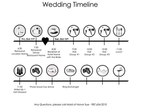 wedding day timeline template word 8 free wedding itinerary templates and schedule templates