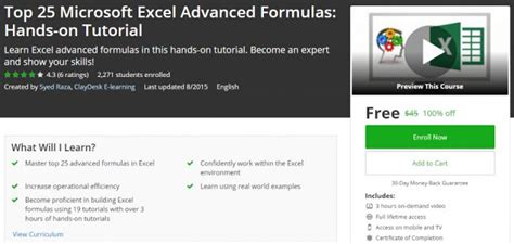 microsoft excel advanced tutorial 100 off top 25 microsoft excel advanced formulas hands