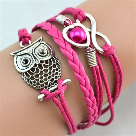Gelang Vintage Leather Bracelet Bangle Promo gelang vintage owl leather bracelet bangle q12 multi color jakartanotebook
