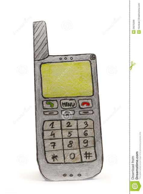 How To Make Paper Mobile Phone - paper drawing mobile phone royalty free stock photos