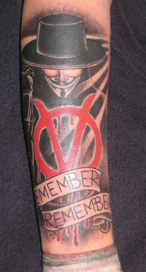 v for vendetta tattoo v for vendetta and quote tattoomagz