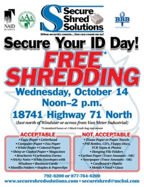 Forum Credit Union Shred Day 2017 shred it day flyers images