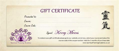 reiki certificate template free best photos of gift voucher sle sle gift
