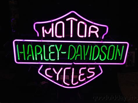 harley davidson lighted signs harley davidson neon sign light