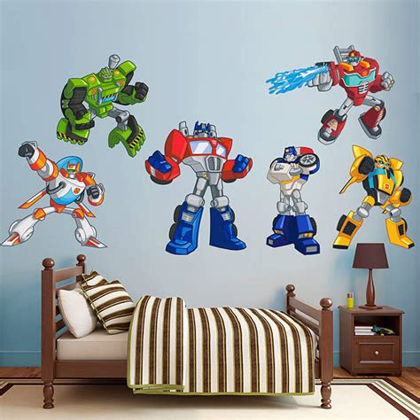 Room Bot by Transformers Rescue Bots Collection Wall Decal Shop Fathead 174 For Transformers Decor