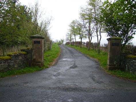 file grand gateposts at driveway entrance road to gribton