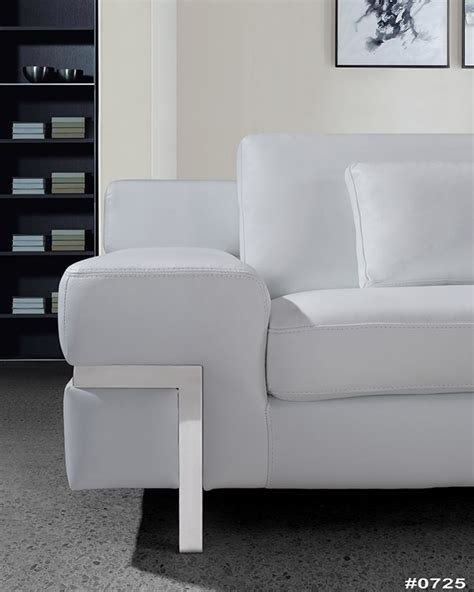 clef modern white leather sofa set