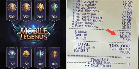 mobile legends rank your mobile legends rank can save you 50 at this eatery