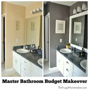 bathroom makeover ideas on a budget master bathroom budget makeover