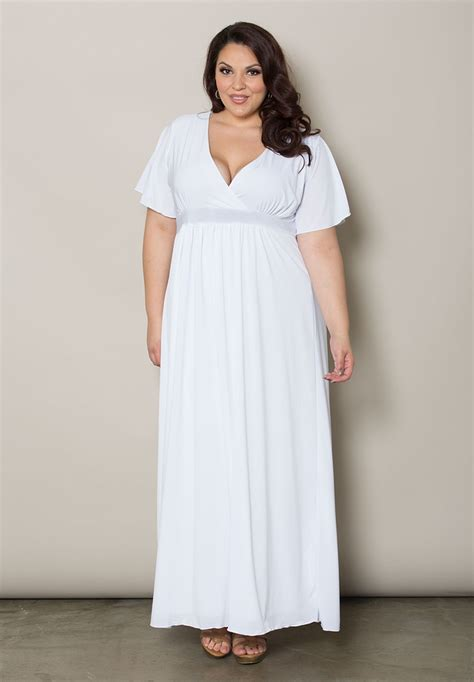 White Maxi Dress Plus Size | long white maxi dress dressed up girl