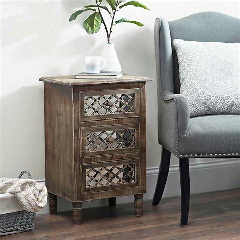 kirklands mirrored 3 drawer chest rustic mirrored lattice 3 drawer chest kirklands