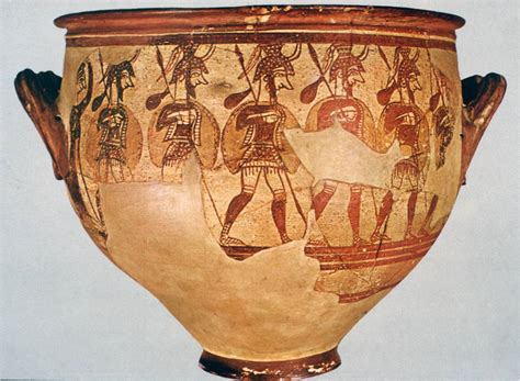 Mycenaean Warrior Vase 301 moved permanently