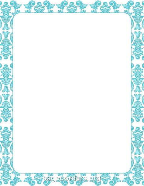 wilton ms word templates silver border place cards template printable blue damask border use the border in microsoft
