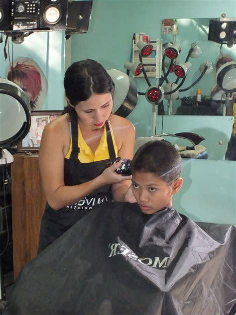 cherry jane with short haircut fun hair cut more photos barberettes barberette